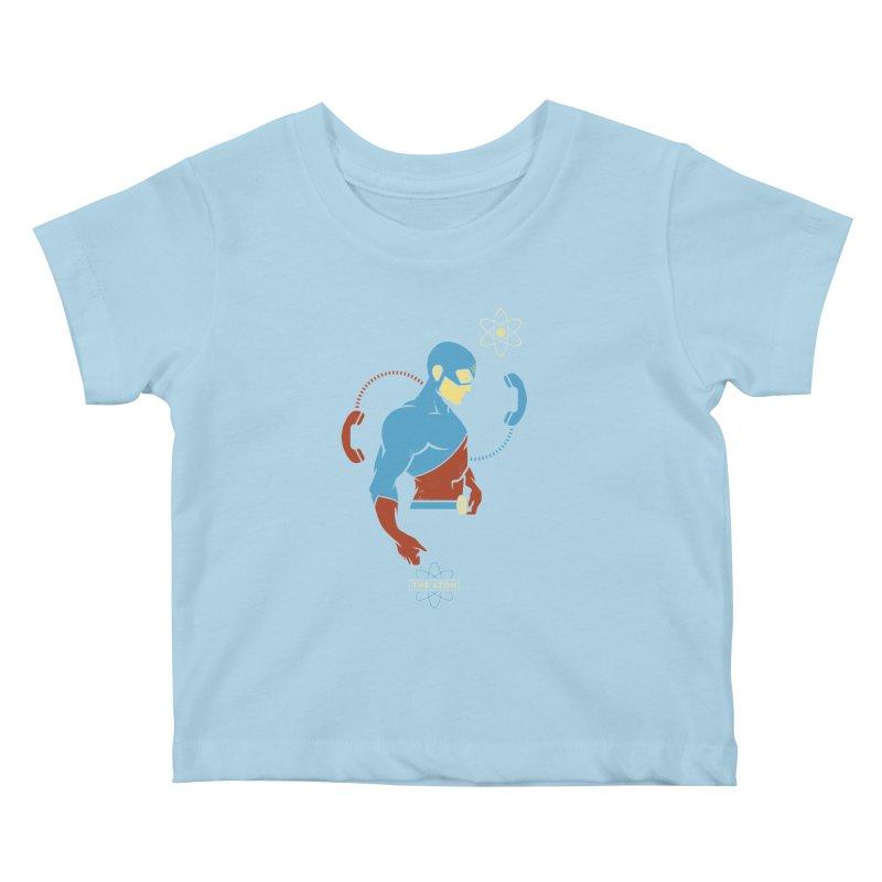 The Atom - DC Superhero Profile Kids Baby T-Shirt by daab Creative's Artist Shop