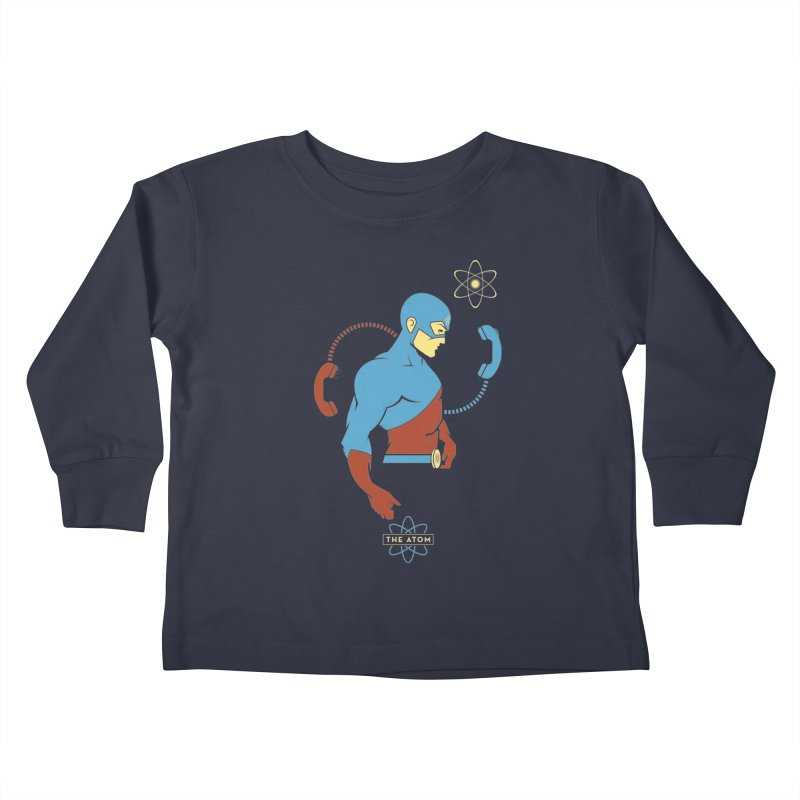 The Atom - DC Superhero Profile Kids Toddler Longsleeve T-Shirt by daab Creative's Artist Shop