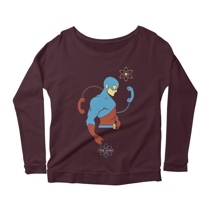 The Atom - DC Superhero Profile Women's Scoop Neck Longsleeve T-Shirt by daab Creative's Artist Shop