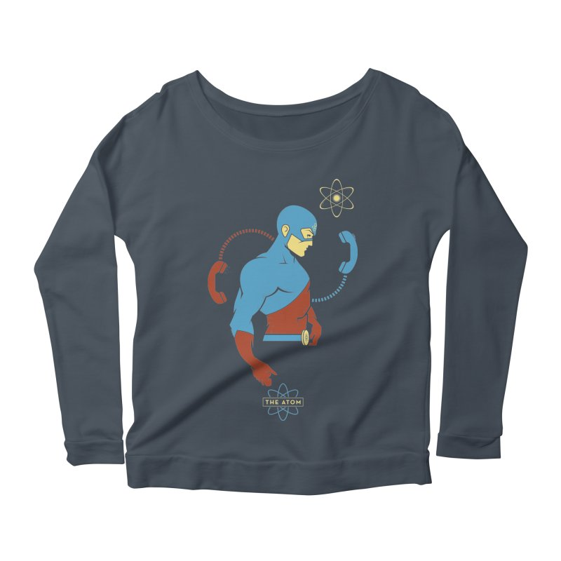 The Atom - DC Superhero Profile Women's Scoop Neck Longsleeve T-Shirt by daab Creative's Artist Shop