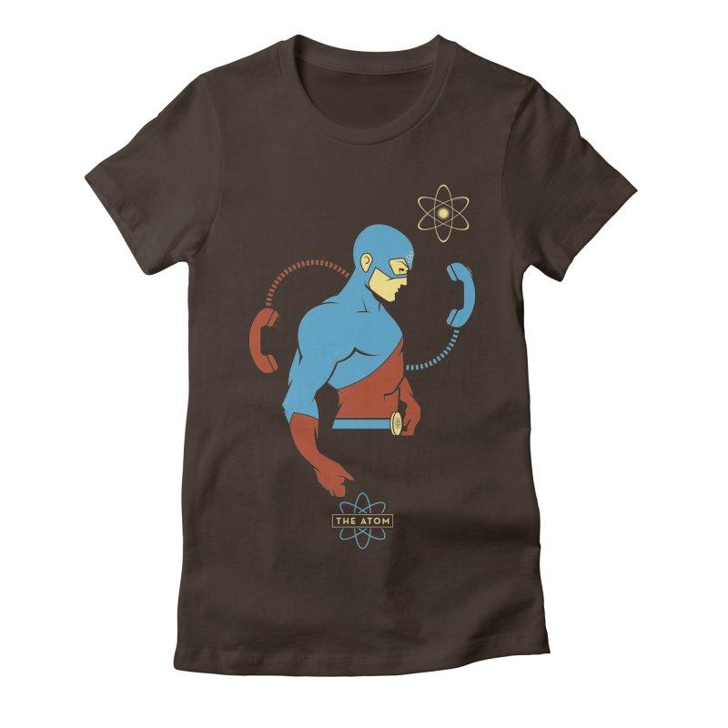 The Atom - DC Superhero Profile Women's Fitted T-Shirt by daab Creative's Artist Shop