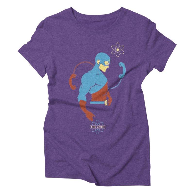The Atom - DC Superhero Profile Women's Triblend T-Shirt by daab Creative's Artist Shop