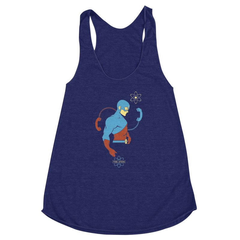The Atom - DC Superhero Profile Women's Racerback Triblend Tank by daab Creative's Artist Shop