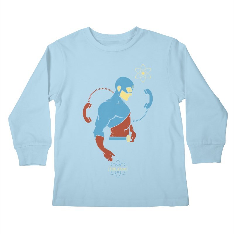 The Atom - DC Superhero Profile Kids Longsleeve T-Shirt by daab Creative's Artist Shop