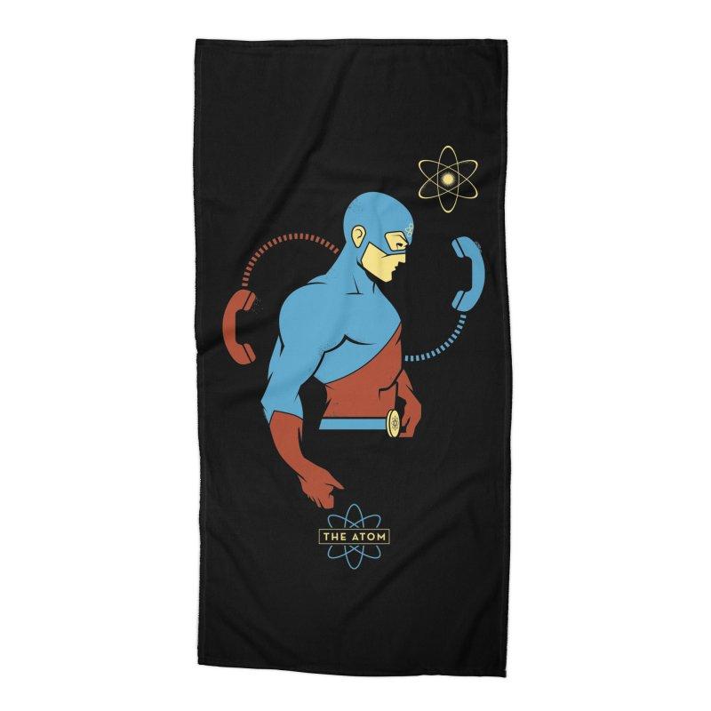 The Atom - DC Superhero Profile Accessories Beach Towel by daab Creative's Artist Shop