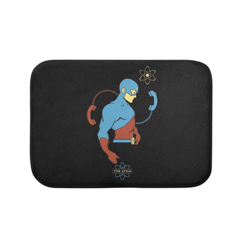 The Atom - DC Superhero Profile Home Bath Mat by daab Creative's Artist Shop