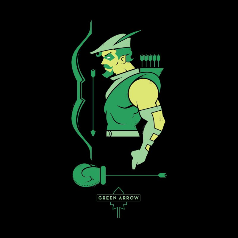 Green Arrow - DC Superhero Profiles Women's V-Neck by daab Creative's Artist Shop
