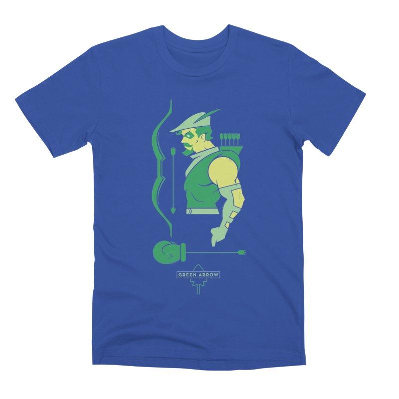 Green Arrow - DC Superhero Profiles Men's T-Shirt by daab Creative's Artist Shop
