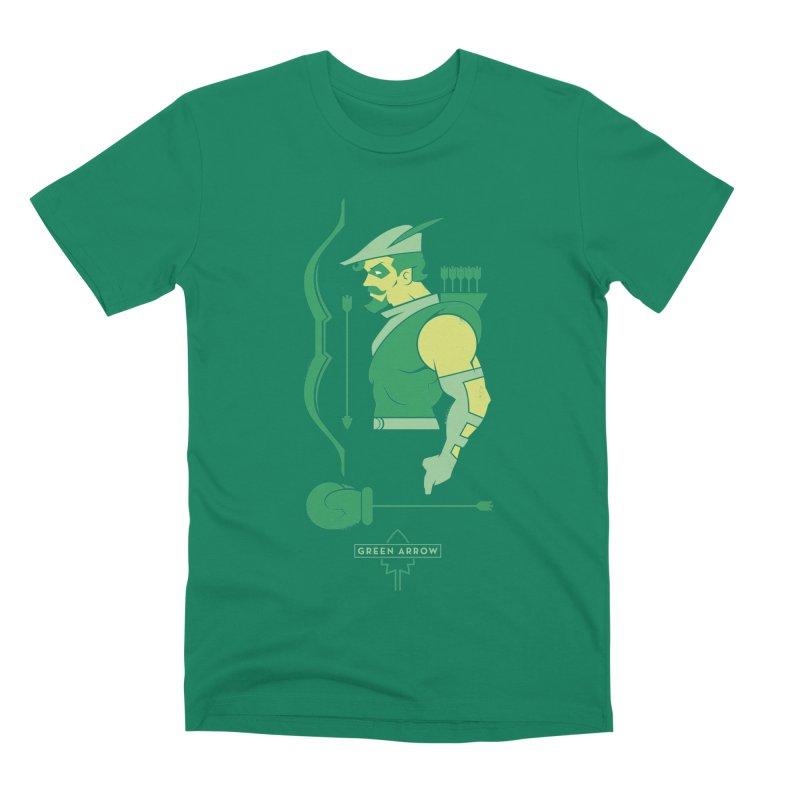 Green Arrow - DC Superhero Profiles Men's Premium T-Shirt by daab Creative's Artist Shop