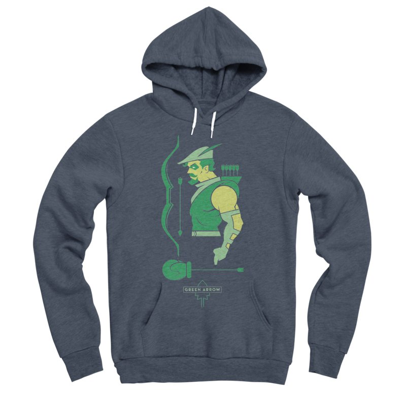 Green Arrow - DC Superhero Profiles Men's Sponge Fleece Pullover Hoody by daab Creative's Artist Shop