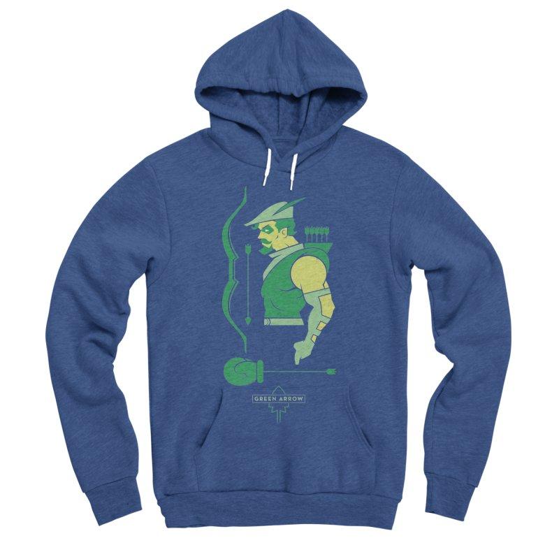 Green Arrow - DC Superhero Profiles Men's Sponge Fleece Pullover Hoody by daab Creative's Artist Shop