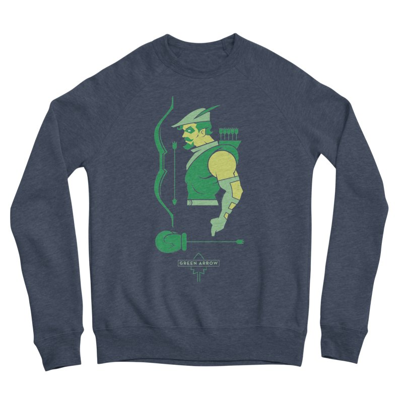 Green Arrow - DC Superhero Profiles Men's Sponge Fleece Sweatshirt by daab Creative's Artist Shop