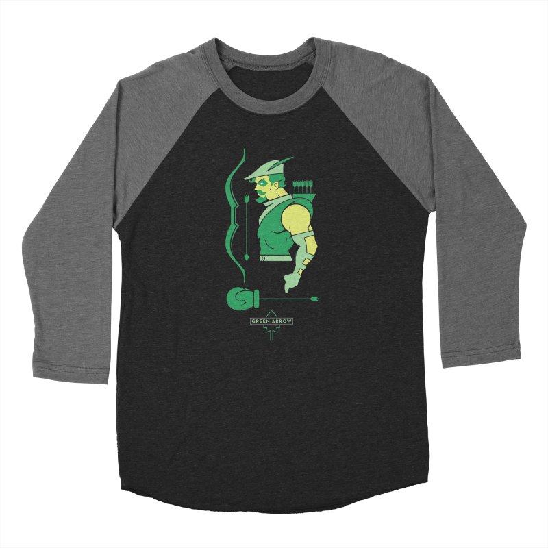 Green Arrow - DC Superhero Profiles Men's Longsleeve T-Shirt by daab Creative's Artist Shop