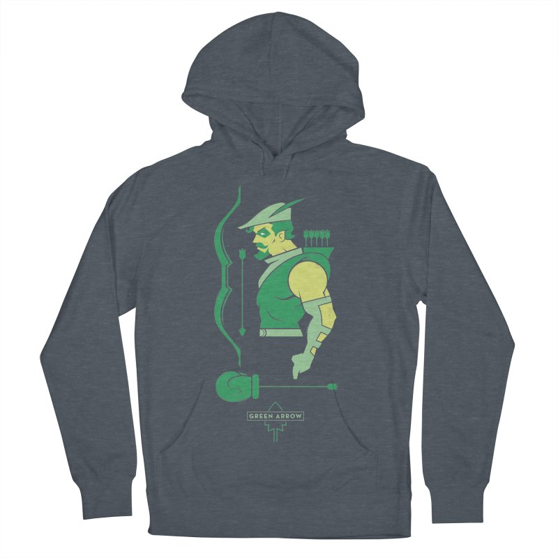 Green Arrow - DC Superhero Profiles Women's French Terry Pullover Hoody by daab Creative's Artist Shop