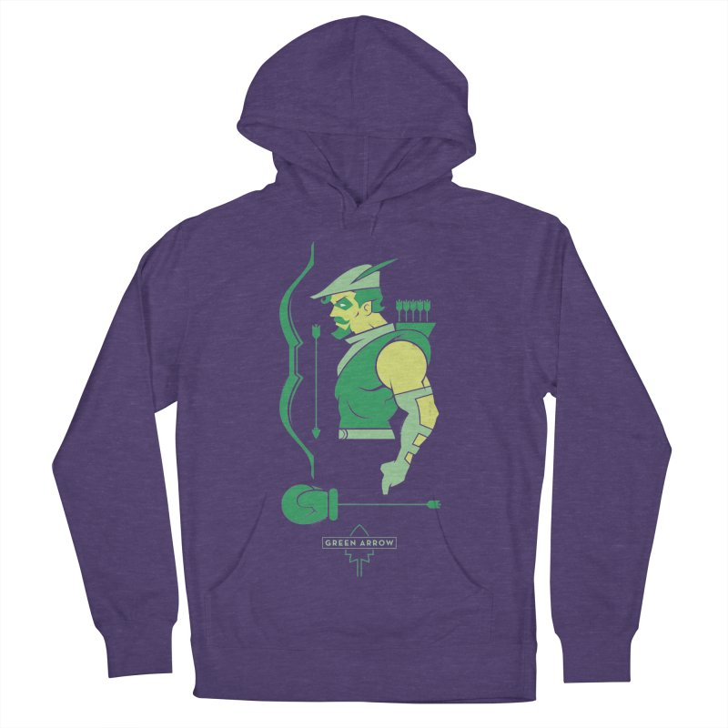 Green Arrow - DC Superhero Profiles Men's French Terry Pullover Hoody by daab Creative's Artist Shop