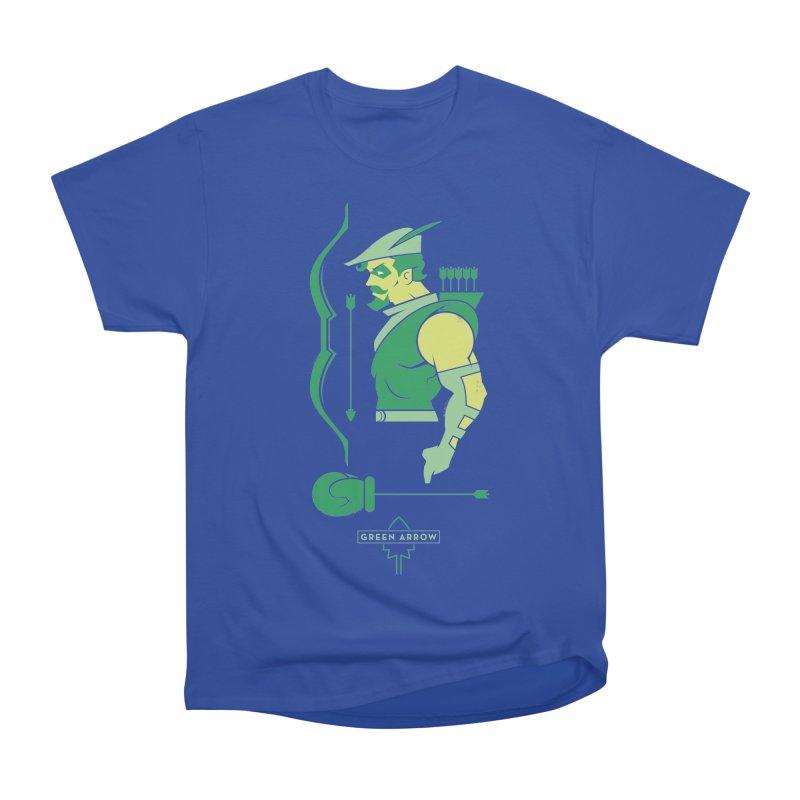 Green Arrow - DC Superhero Profiles Women's Heavyweight Unisex T-Shirt by daab Creative's Artist Shop