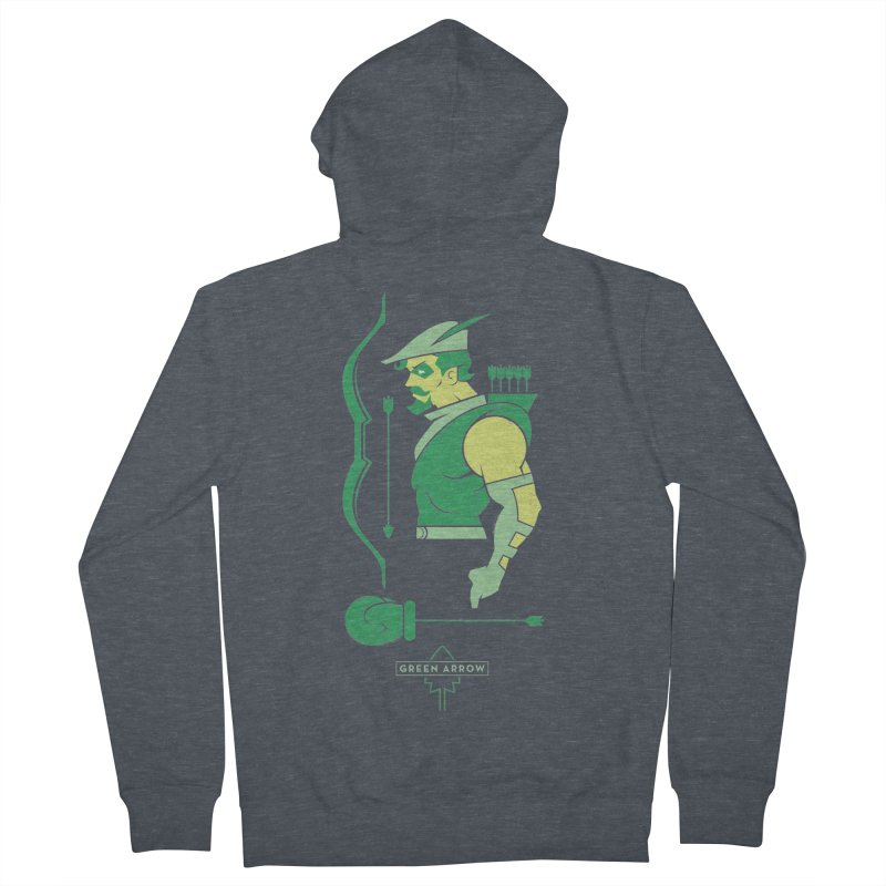 Green Arrow - DC Superhero Profiles Women's French Terry Zip-Up Hoody by daab Creative's Artist Shop