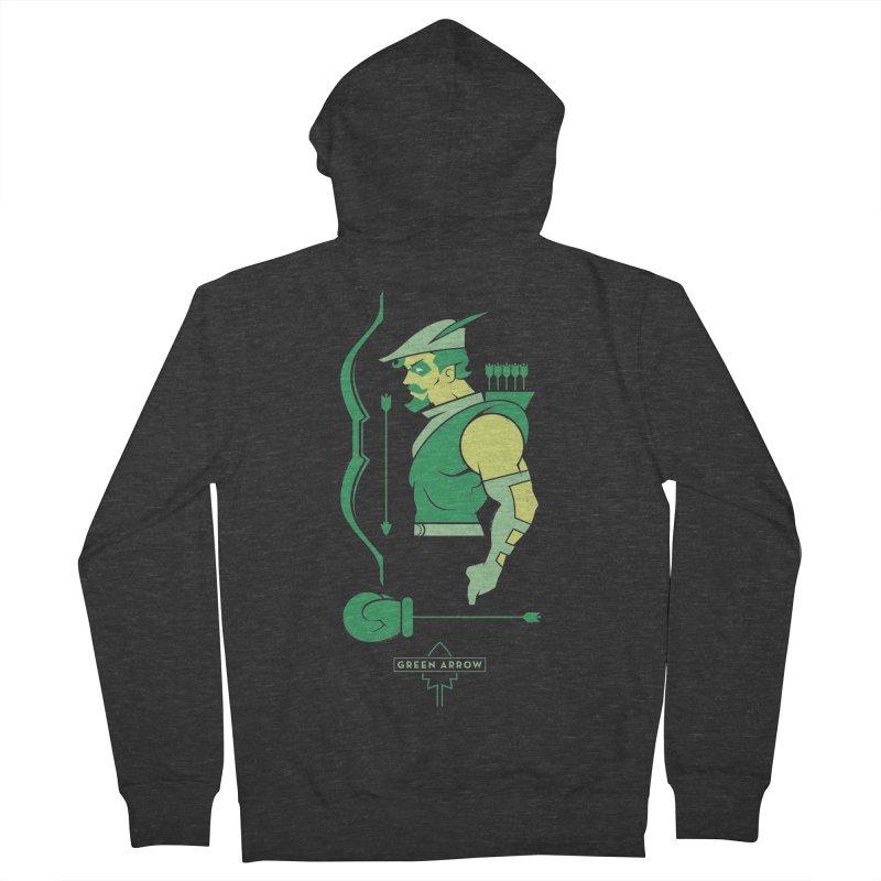 Green Arrow - DC Superhero Profiles Men's French Terry Zip-Up Hoody by daab Creative's Artist Shop