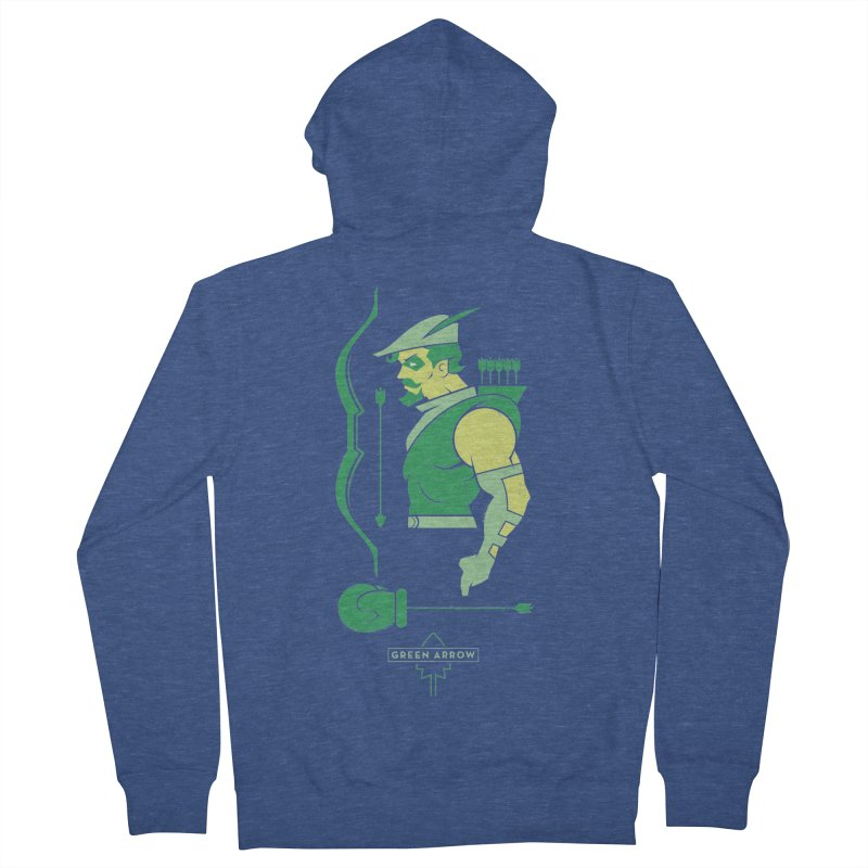 Green Arrow - DC Superhero Profiles Men's Zip-Up Hoody by daab Creative's Artist Shop