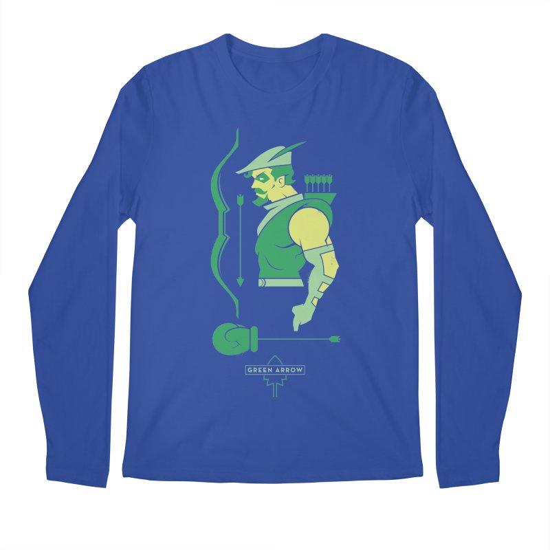 Green Arrow - DC Superhero Profiles Men's Regular Longsleeve T-Shirt by daab Creative's Artist Shop