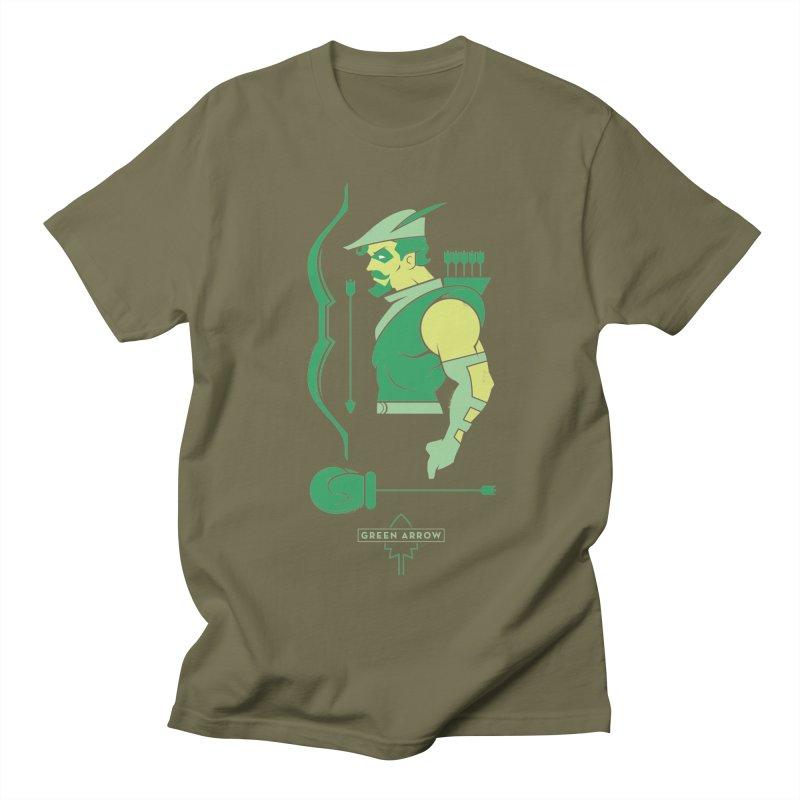 Green Arrow - DC Superhero Profiles Women's Regular Unisex T-Shirt by daab Creative's Artist Shop