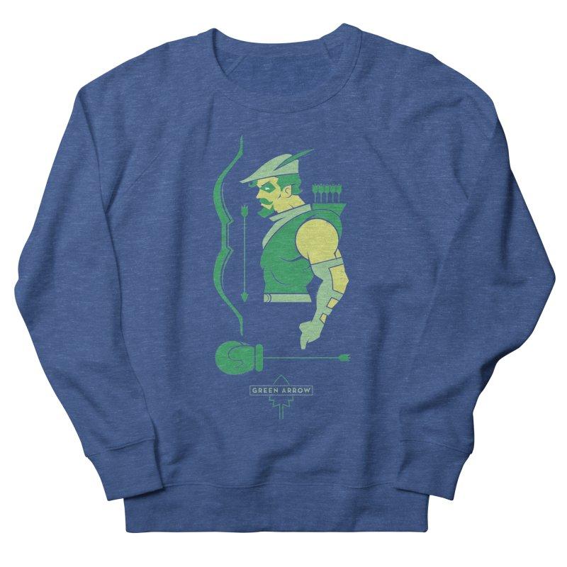 Green Arrow - DC Superhero Profiles Men's French Terry Sweatshirt by daab Creative's Artist Shop