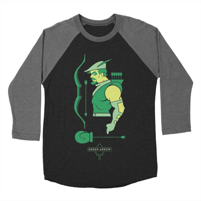 Green Arrow - DC Superhero Profiles Men's Baseball Triblend Longsleeve T-Shirt by daab Creative's Artist Shop
