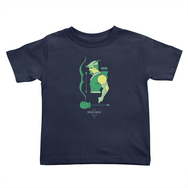 Green Arrow - DC Superhero Profiles Kids Toddler T-Shirt by daab Creative's Artist Shop