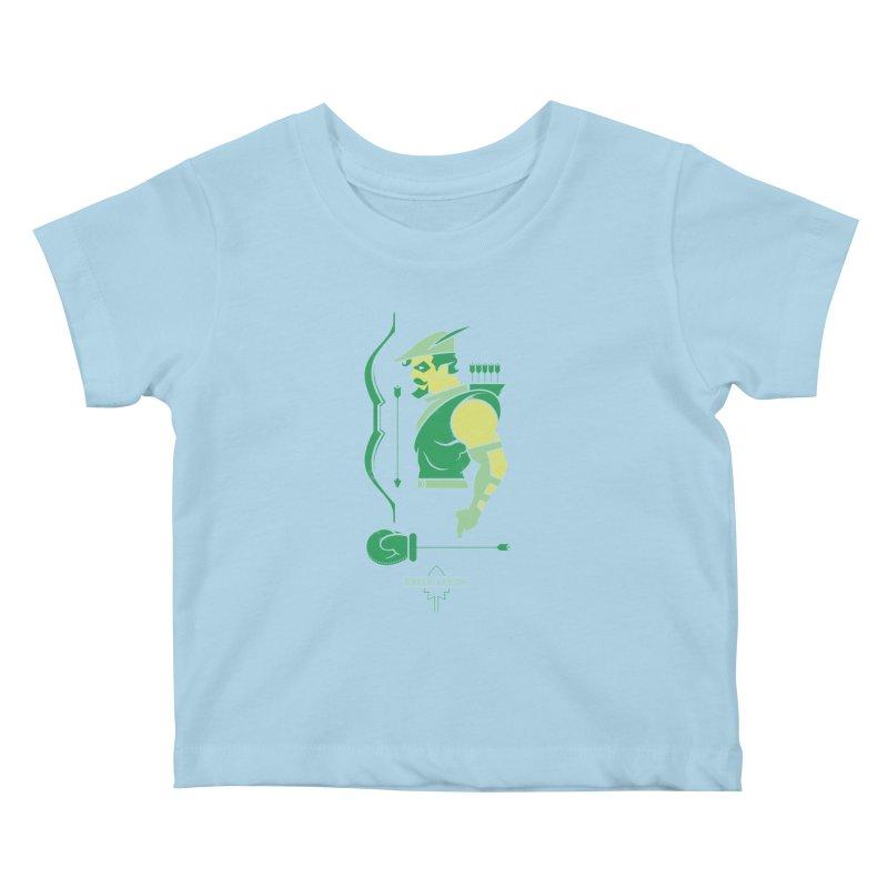 Green Arrow - DC Superhero Profiles Kids Baby T-Shirt by daab Creative's Artist Shop