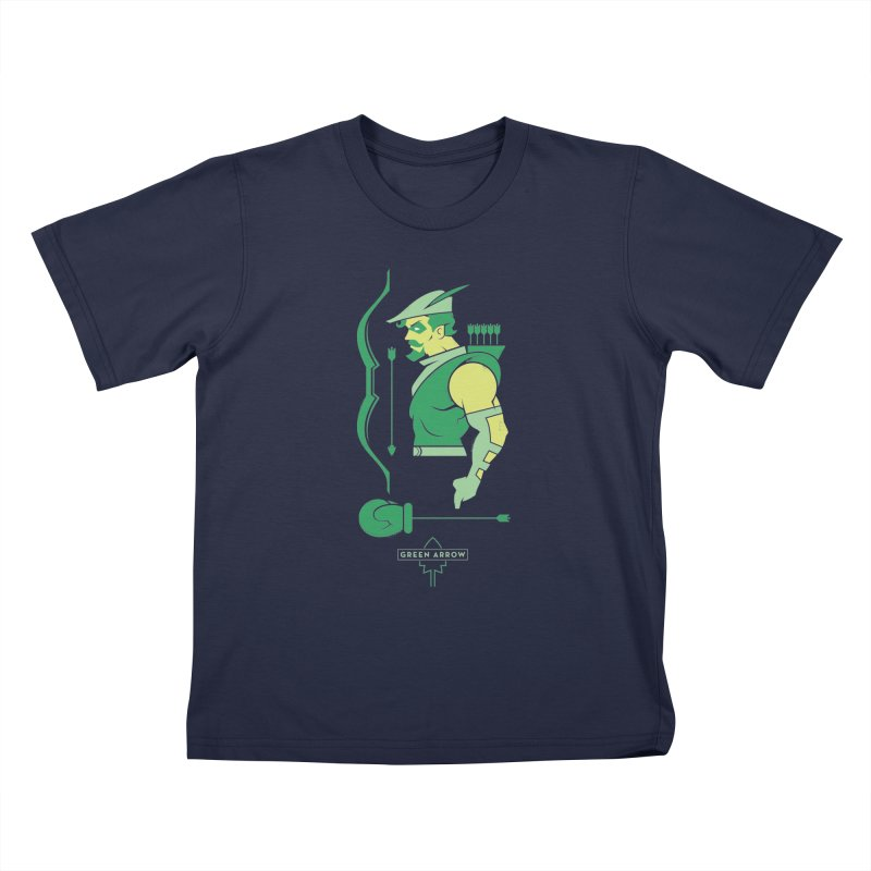 Green Arrow - DC Superhero Profiles Kids T-Shirt by daab Creative's Artist Shop