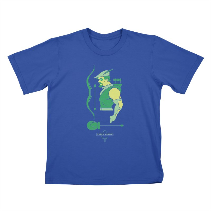 Green Arrow - DC Superhero Profiles Kids T-Shirt by daab Creative's Artist Shop