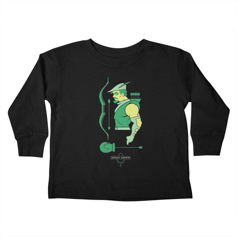 Green Arrow - DC Superhero Profiles Kids Toddler Longsleeve T-Shirt by daab Creative's Artist Shop
