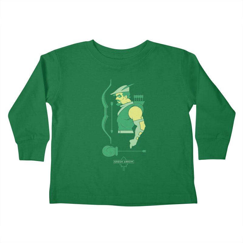Green Arrow - DC Superhero Profiles Kids Toddler Longsleeve T-Shirt by daab Creative's Artist Shop