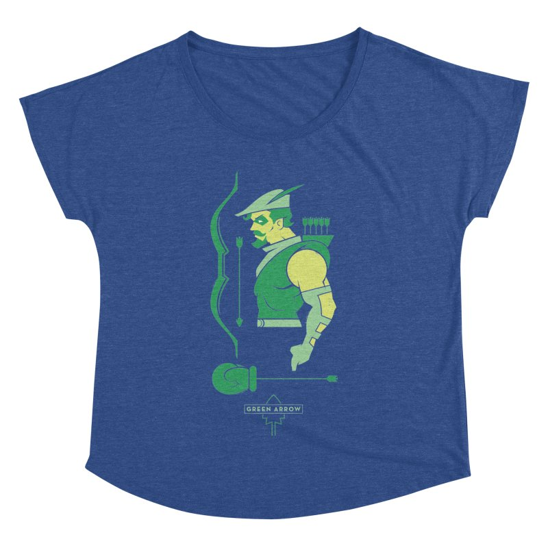 Green Arrow - DC Superhero Profiles Women's Dolman Scoop Neck by daab Creative's Artist Shop