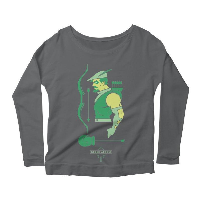 Green Arrow - DC Superhero Profiles Women's Scoop Neck Longsleeve T-Shirt by daab Creative's Artist Shop