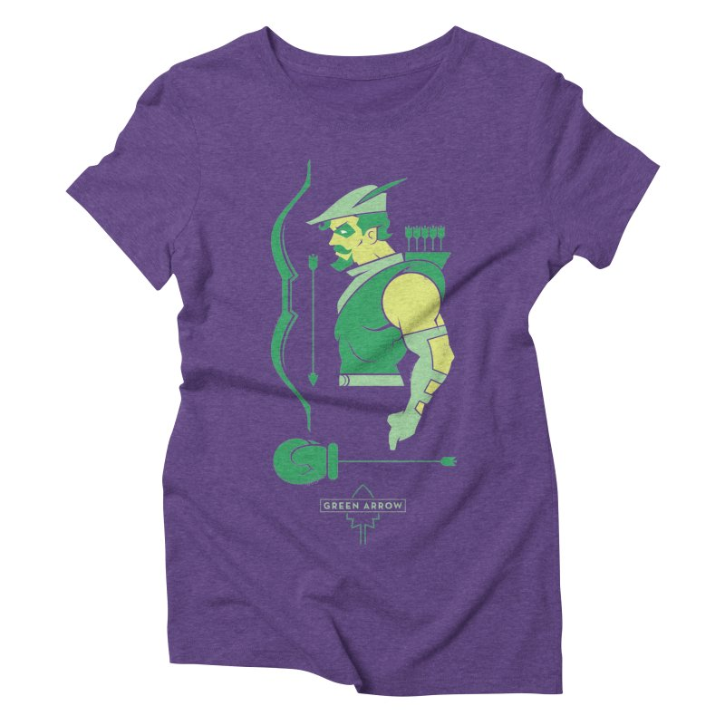 Green Arrow - DC Superhero Profiles Women's Triblend T-Shirt by daab Creative's Artist Shop