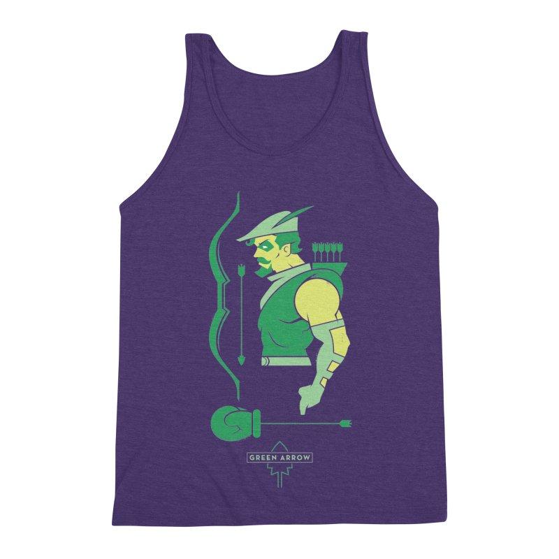 Green Arrow - DC Superhero Profiles Men's Triblend Tank by daab Creative's Artist Shop