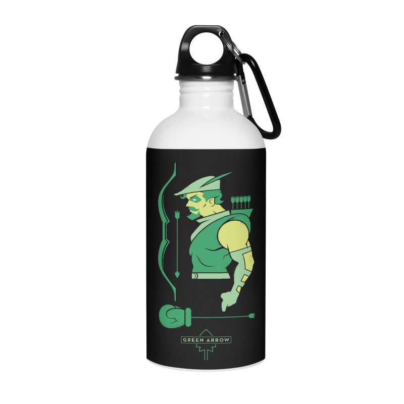 Green Arrow - DC Superhero Profiles Accessories Water Bottle by daab Creative's Artist Shop