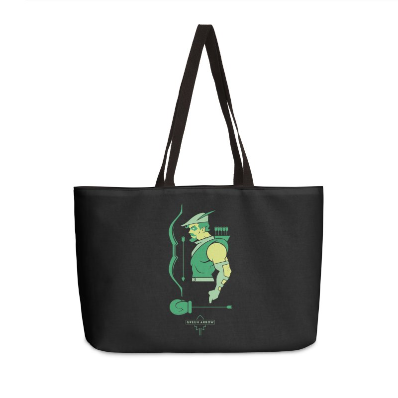 Green Arrow - DC Superhero Profiles Accessories Weekender Bag Bag by daab Creative's Artist Shop