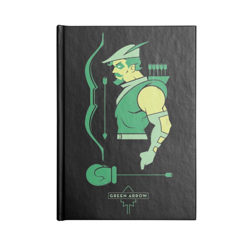 Green Arrow - DC Superhero Profiles Accessories Lined Journal Notebook by daab Creative's Artist Shop