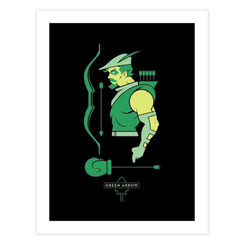 Green Arrow - DC Superhero Profiles Home Fine Art Print by daab Creative's Artist Shop