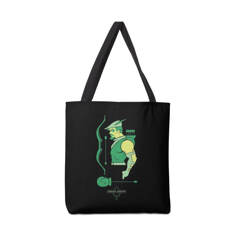 Green Arrow - DC Superhero Profiles Accessories Tote Bag Bag by daab Creative's Artist Shop