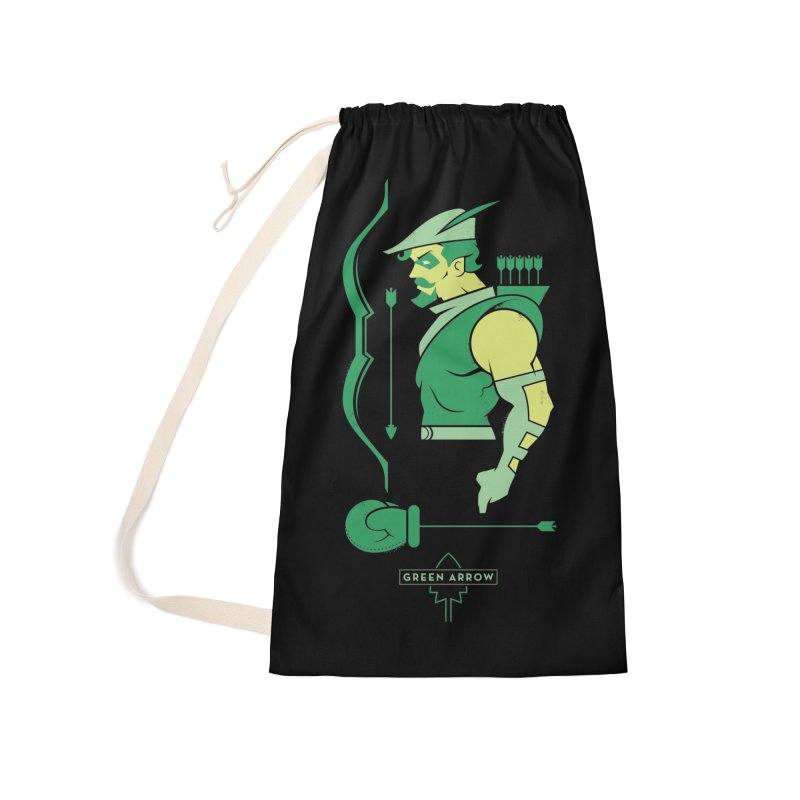 Green Arrow - DC Superhero Profiles Accessories Bag by daab Creative's Artist Shop