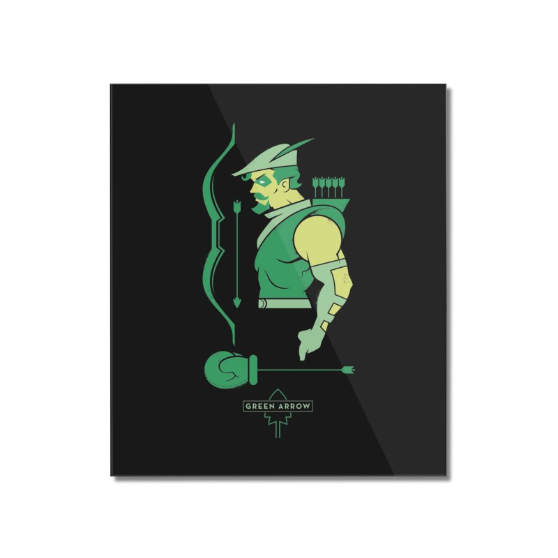 Green Arrow - DC Superhero Profiles Home Mounted Acrylic Print by daab Creative's Artist Shop