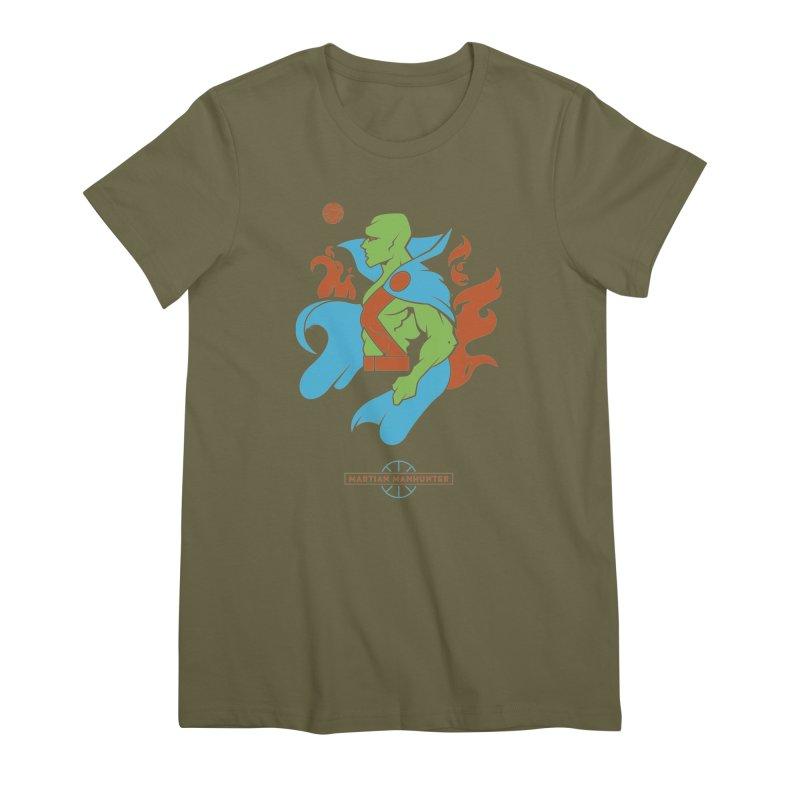 Martian Manhunter - DC Superhero Profile Women's Premium T-Shirt by daab Creative's Artist Shop