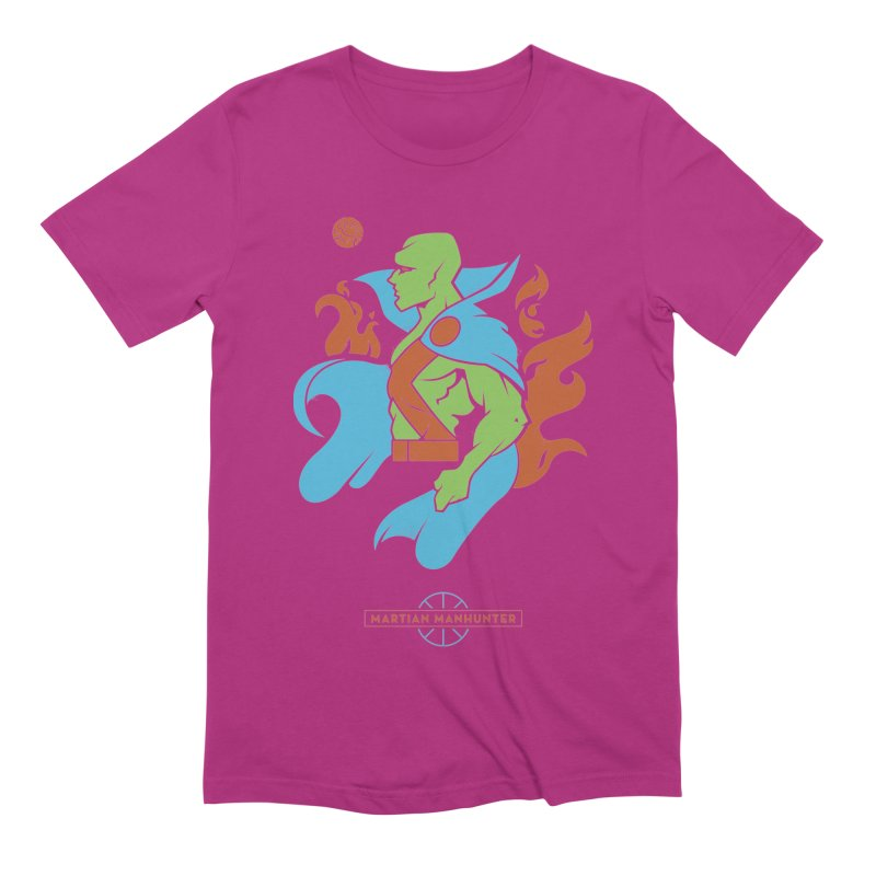 Martian Manhunter - DC Superhero Profile Men's Extra Soft T-Shirt by daab Creative's Artist Shop