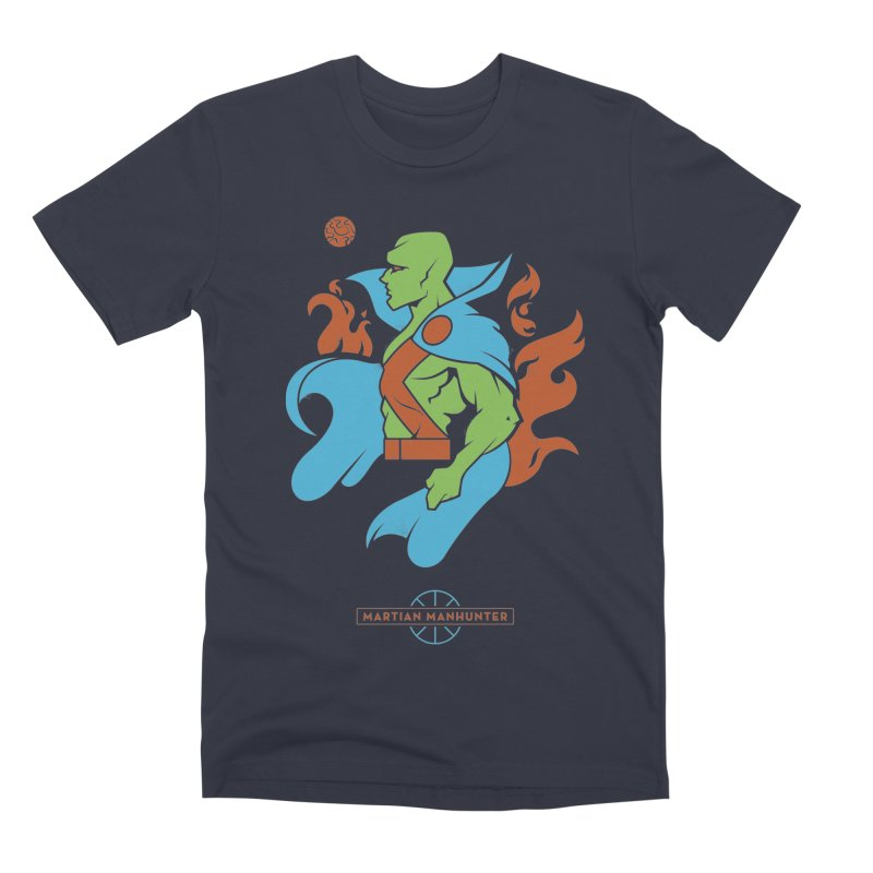 Martian Manhunter - DC Superhero Profile Men's Premium T-Shirt by daab Creative's Artist Shop
