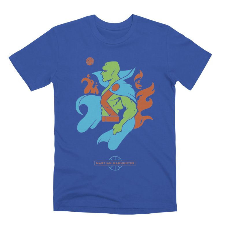 Martian Manhunter - DC Superhero Profile Men's T-Shirt by daab Creative's Artist Shop