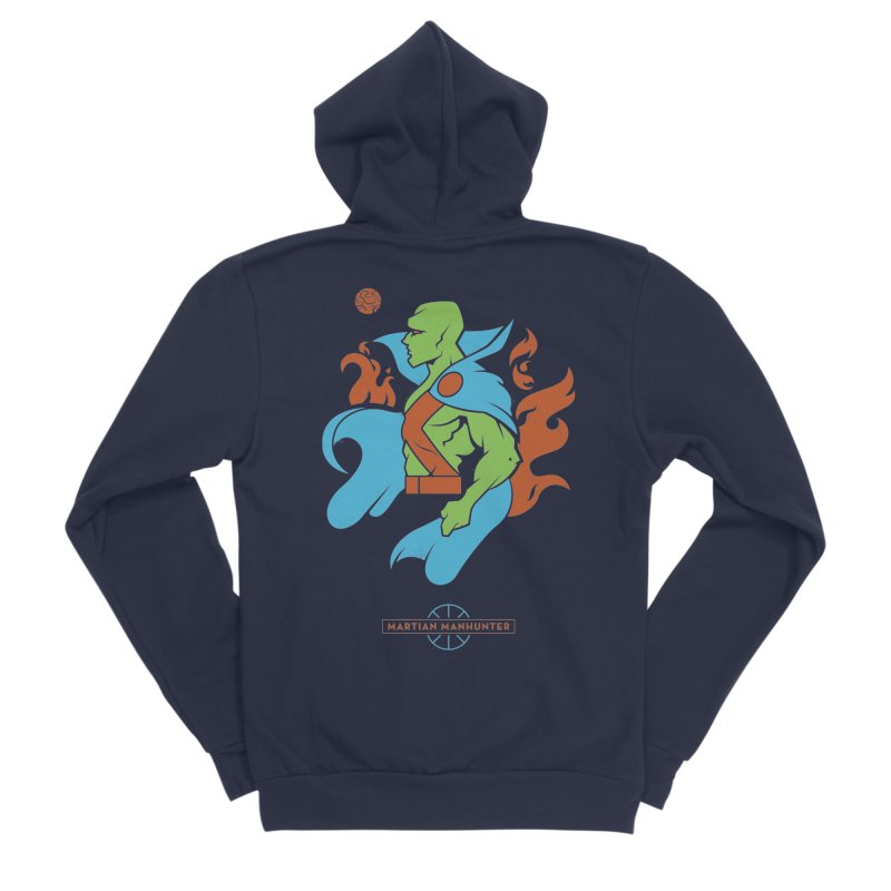 Martian Manhunter - DC Superhero Profile Women's Sponge Fleece Zip-Up Hoody by daab Creative's Artist Shop