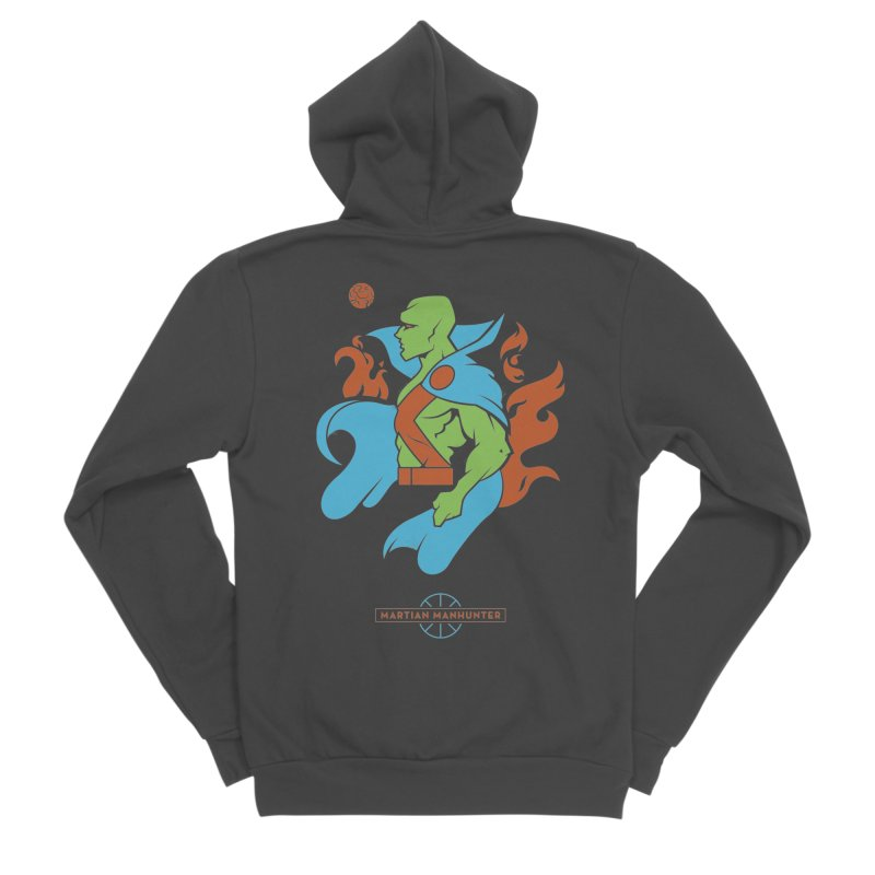 Martian Manhunter - DC Superhero Profile Men's Sponge Fleece Zip-Up Hoody by daab Creative's Artist Shop